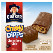 Quaker  Cereal Bars Chewy Dipps Chocolate Chip Granola 186g