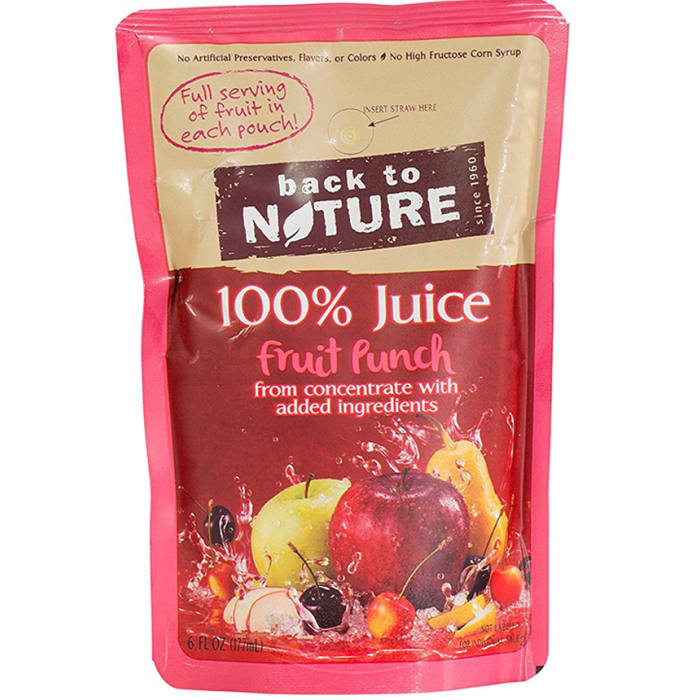 Back to Nature 100% Juice Fruit Punch