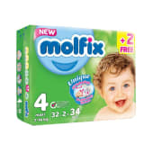 Molfix Anti Leakage Comfortable Maxi Baby Diapers 7-14 kg | 34 Count