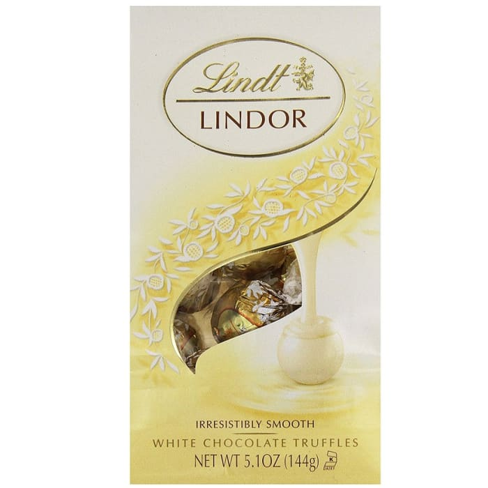Lindt Lindor Truffles White Chocolate Bag