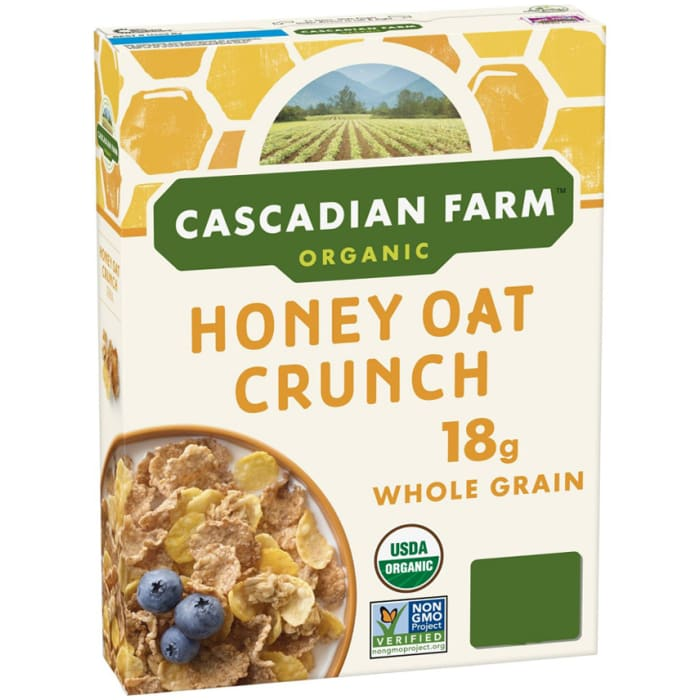 Cascadian Farm Organic Honey Oat Crunch Cereal 340g