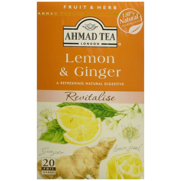 Ahmad Fruit Herbs Tea 20 Tea Bags Lemon Ginger 40g