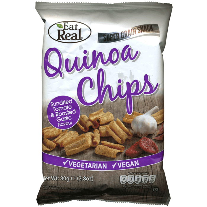 Eat Real Quinoa Chips Sundried Tomato & Roasted Garlic Flavour