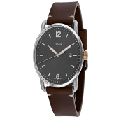 Fossil Men's Commuter Brown Leather Japanese Quartz Watch FS5417