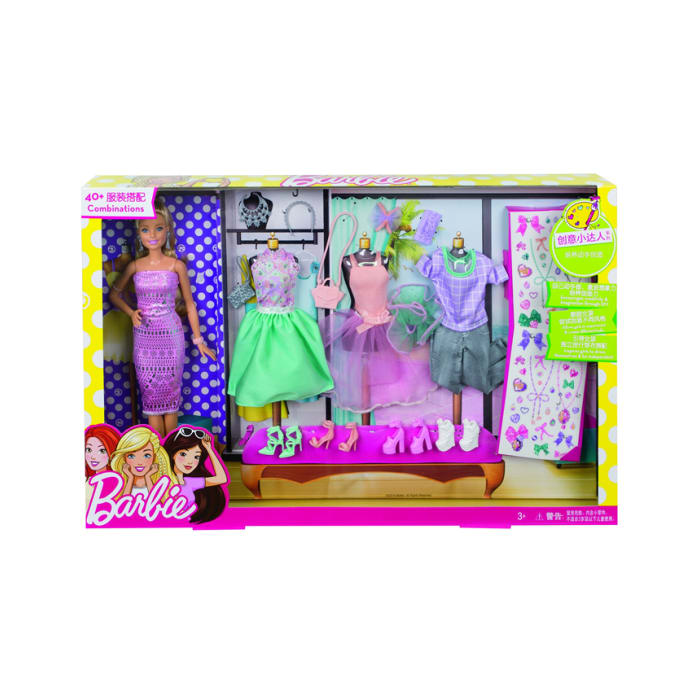 Barbie Fashion Activity Giftset Multi Color