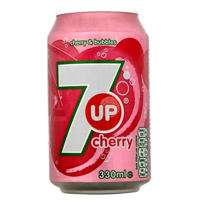 7UP Soft Drink Cherry Can