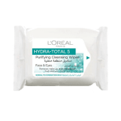 L'Oreal Hydra Total 5 Purifying Cleansing Face & Eyes 25 Cleansing Wipes