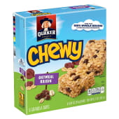 Quaker Chewy Granola 8Bars Oatmeal Raisin 192g
