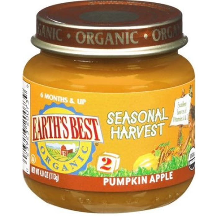 Earth's Best Organic Stage 2 Pumpkin Apple Baby Food
