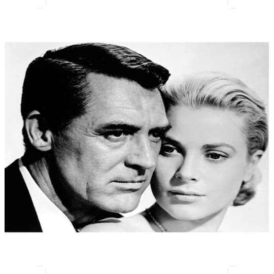 Cary Grant and Grace Kelly - A4 (210 x 297mm)