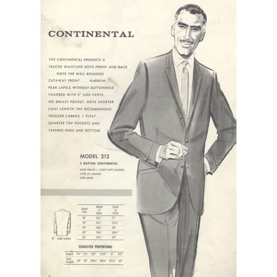 Dementia friendly Continental Suits - A4 (210 x 297mm)
