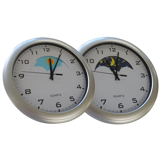 Dementia friendly Day and Night clock for dementia and alzheimer's care