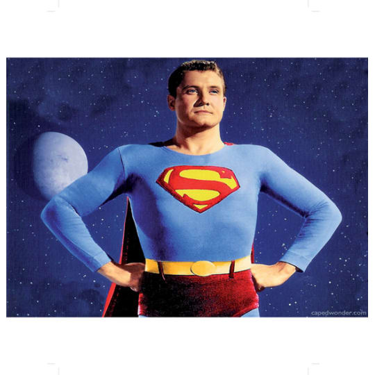 George Reeves as Superman - A4 (210 x 297mm)