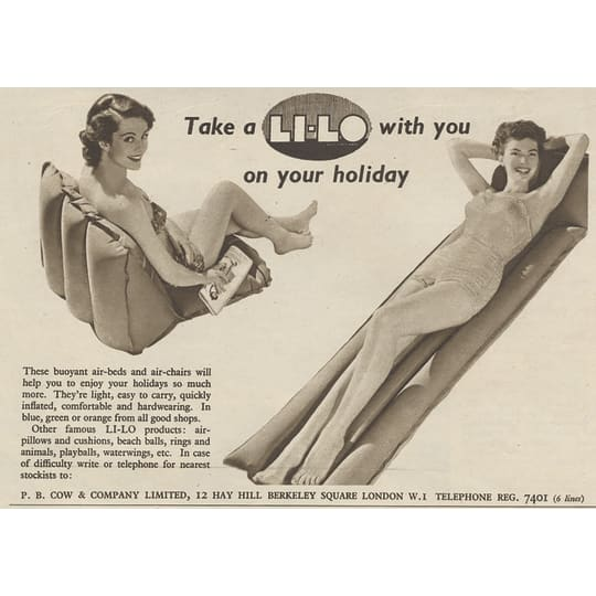Li-Lo on Holiday - A4 (210 x 297mm)