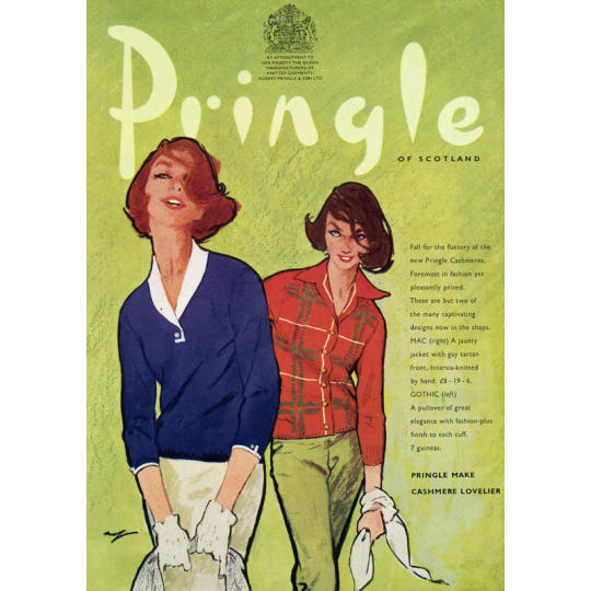 Pringle Cashmere - A4 (210 x 297mm)