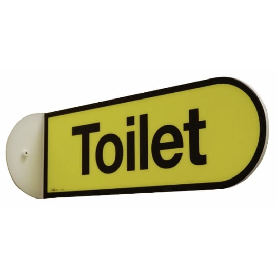 Dementia friendly Double Sided Toilet Flag Sign  - Dementia Signage
