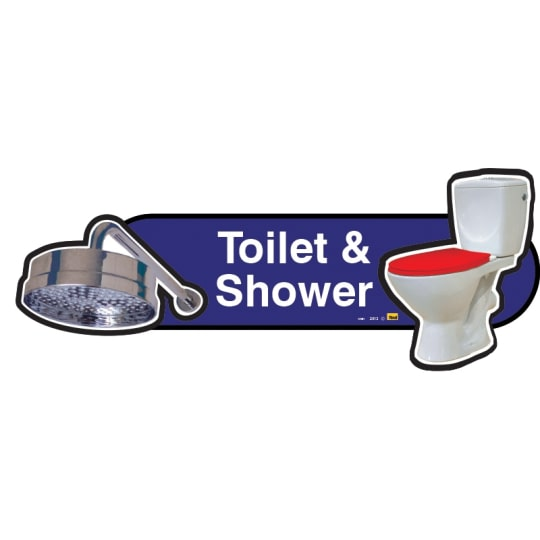 Toilet and Shower sign  - Dementia Signage for Hospitals