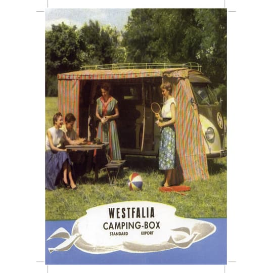 Westfalia Camping box - A4 (210 x 297mm)