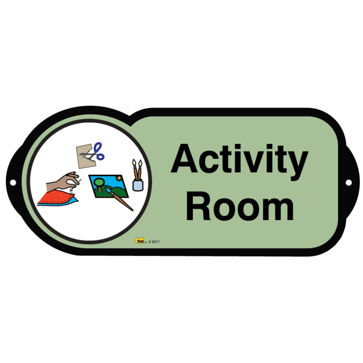 Activity Room sign for autism and learning disabilities - signage