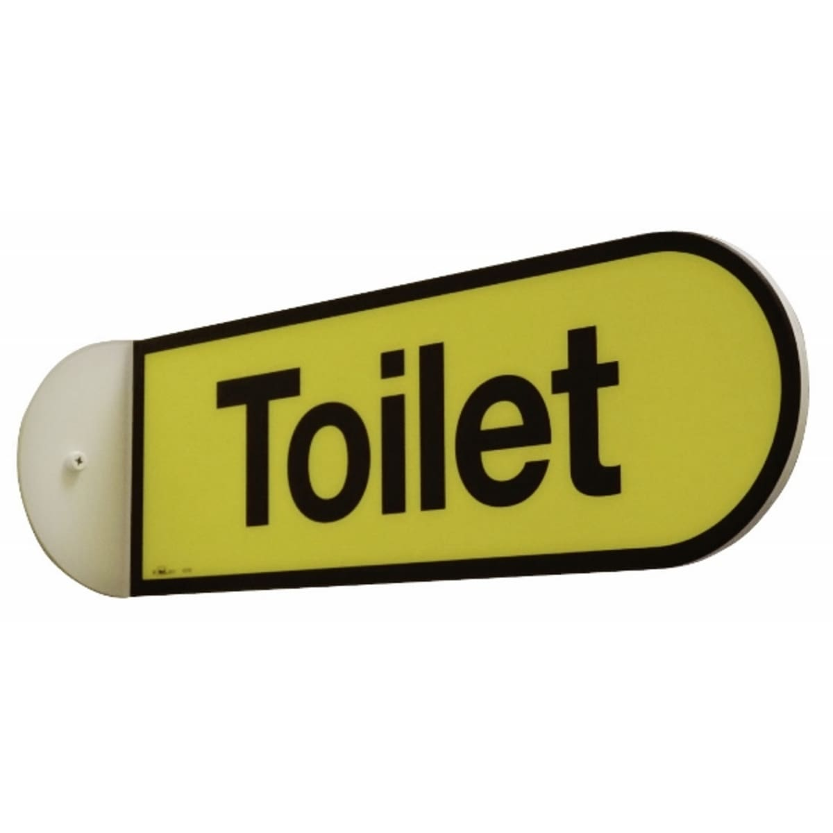 Double Sided Toilet Flag Sign  - Dementia Signage