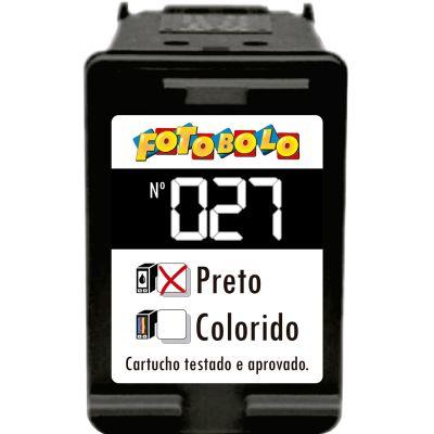 Cartucho HP 27 PRETO - com Corante Comestível