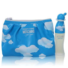 Cheap & Chic Light Clouds by Moschino Gift Set -- 1.7 oz Eau De Toilette Spray with Free Cosmetic Pouch for Women
