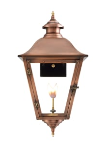 Jolie Wall Mount Copper Lantern by Primo