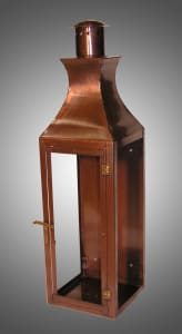 Regency flush mount lantern