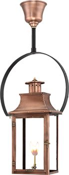 Royal Hanging Yoke Copper Lantern by Primo