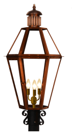 """Mt. Vernon with """"S"""" Scroll Post Mount and Fluted Top"""