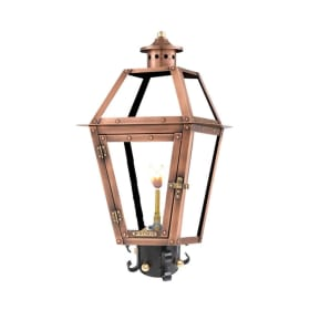 Orleans Post Mount Copper Lantern by Primo