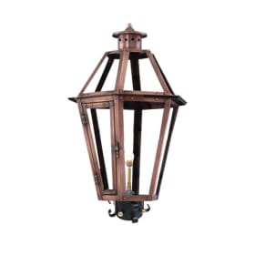 Rampart Post Mount Copper Lantern by Primo