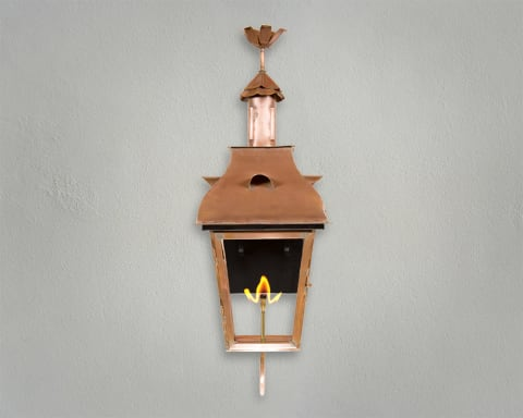 Toulose Copper Sculptures Gas Lantern
