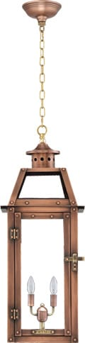 Bienville Hanging Chain Copper Lantern by Primo