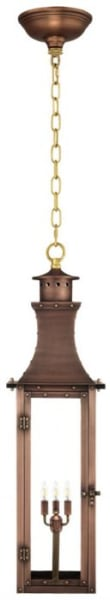 Bishop Hanging Chain Copper Lantern by Primo