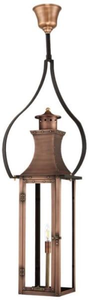 Bishop Electric Hanging Yoke Copper Lantern,Bishop Gas Hanging Yoke Copper Lantern