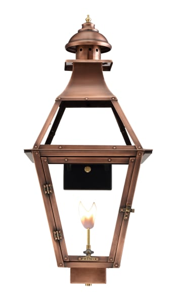 Jackson Gas Wall Mount Copper Lantern by Primo