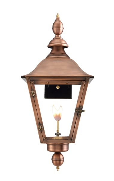 Oak Alley Wall Mount Gas Copper Lantern by Primo
