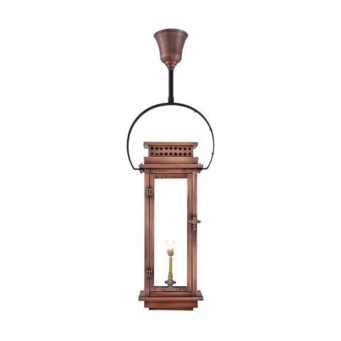 Nouveau Half Yoke Gas Copper Lantern by Primo