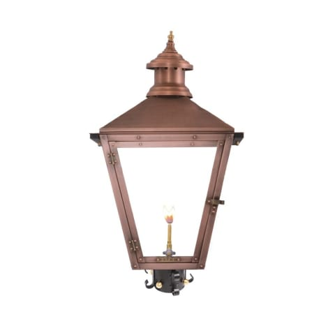 Savannah Post Mount Copper Lantern by Primo