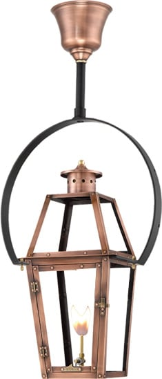 Acadian Half Yoke Copper Lantern by Primo