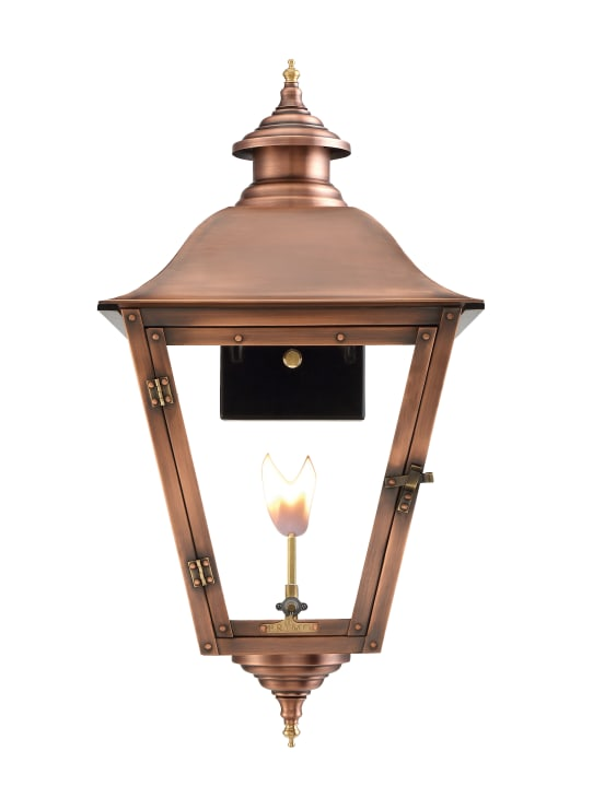 Jolie Gas Wall Mount Copper Lantern by Primo