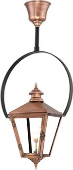Savannah Half Yoke Copper Lantern by Primo