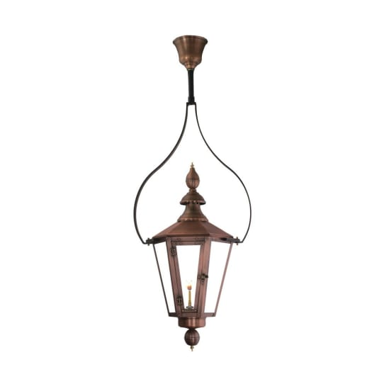 Vicksburg Hanging Yoke Copper Lantern by Primo