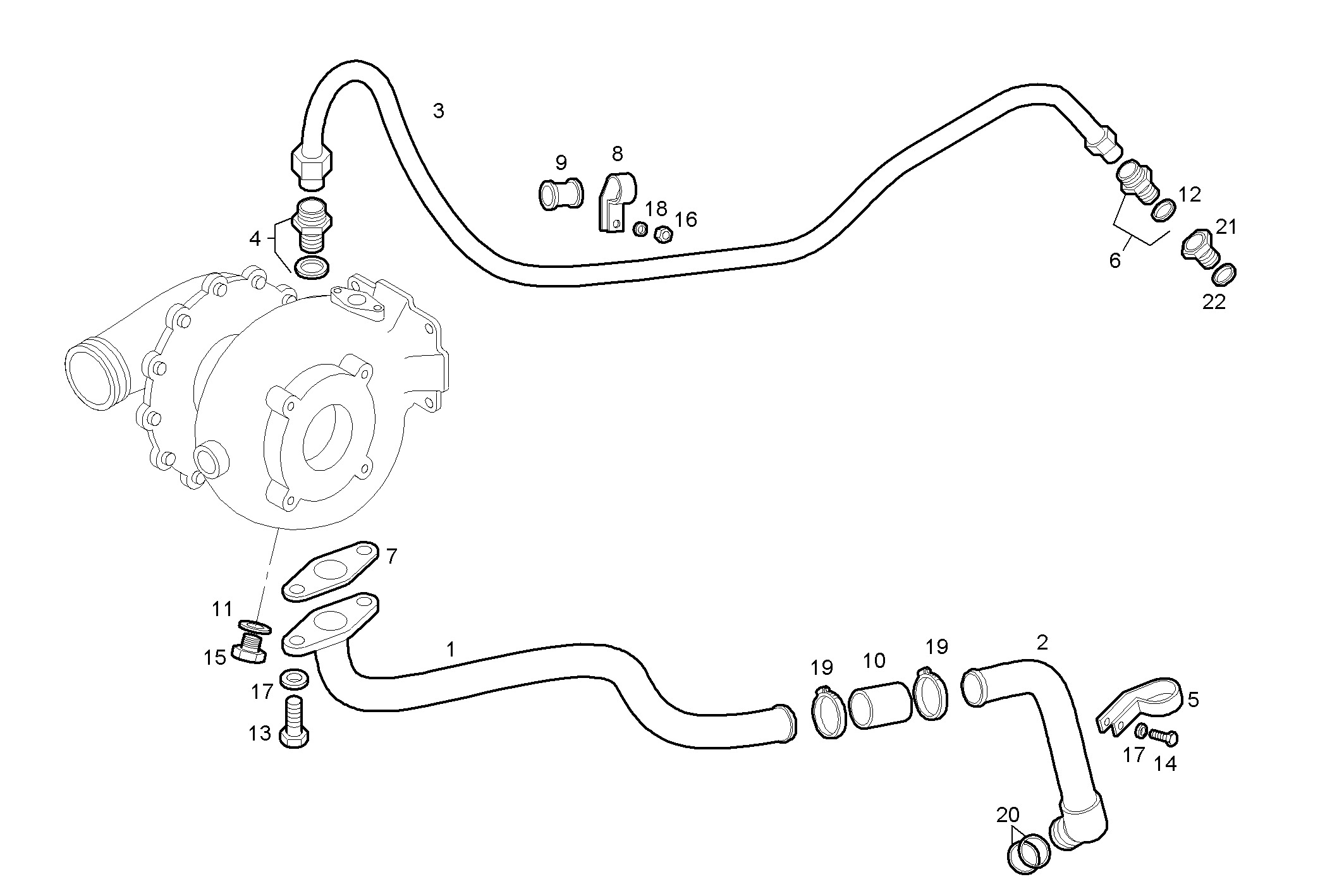 TURBOCHARGER OIL LINES