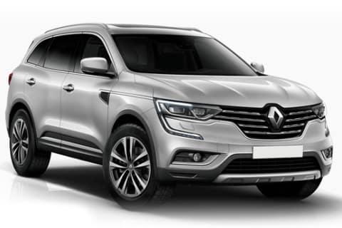 Søvfarget Renault Koleos SUV mot hvit bakgrunn