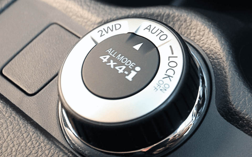 Styringshjul for 4x4 i Nissan X-Trail