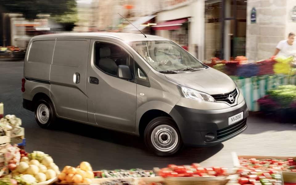 Nissan NV200 varebil grønnsaksmarked