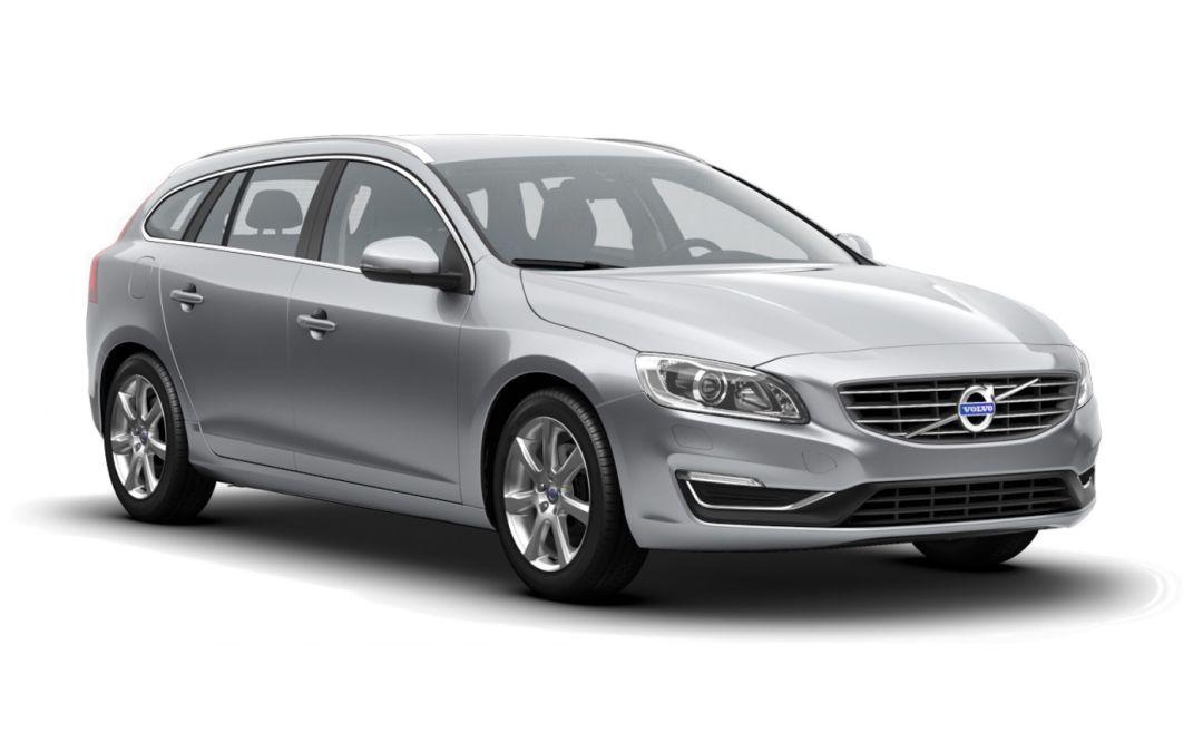 Volvo V60 Summum Elctric Silver front og side
