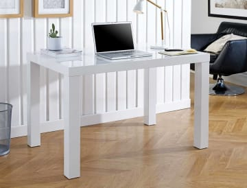 Berlin White High Gloss Computer PC Home Working Office Desk